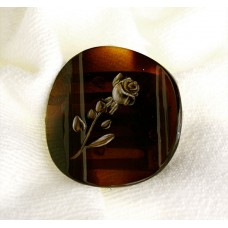 13353 - Clip Shell W/rose