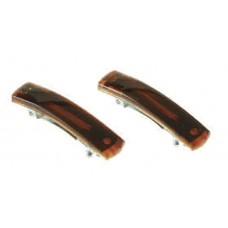21265 - AUTO BARRETTE SHELL 2/CARD  1 3/4