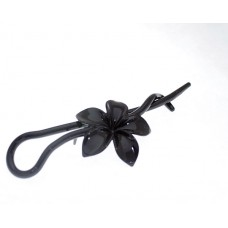 61983 - CHIGN ON FLOWER PIN BLACK