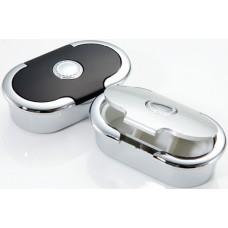 M576 - Compact Pill Box Black & Silver