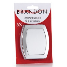 M654B - 5X & Normal Compact Mirror, Blister Pack