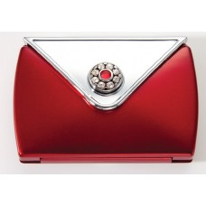 M737 - 7X & Normal Rhinestone Envelope Compact, Ruby
