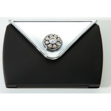 M738 - 7X & Normal Rhinestone Envelope Compact, Black