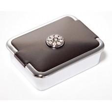 M785 - Rhinestone Pill Box, Normal View Mirror Grey