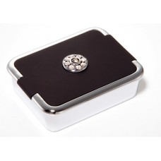 M787 - Rhinestone Pill Box, Normal View Mirror Black