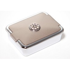 M788 - Rhinestone Pill Box, Normal View Mirror Pewter