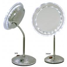 M836 - 7X LED Lghtd Gooseneck Mirror
